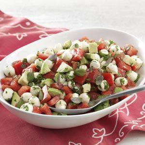 Fresh Mozzarella & Tomato Salad Recipe from Taste of Home -- shared by Lynn Scully of Rancho Santa Fe, California