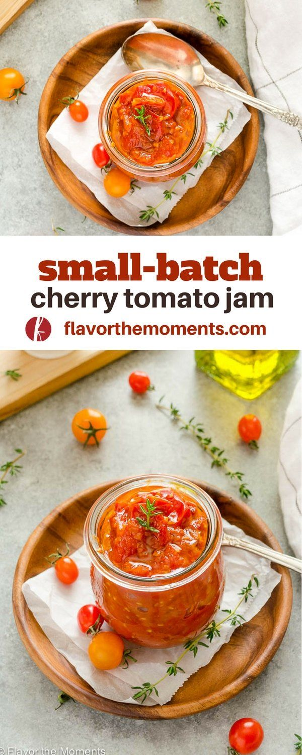 Small Batch Cherry Tomato Jam is sweet, tangy, and perfect for sandwiches, burge…