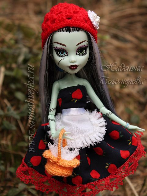 Little Red Riding Hood costume for a doll from the School Monster (Monster High)