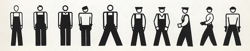 Worker ISOTYPES by Rudolph Modley, Pictograph Corp., N.Y.