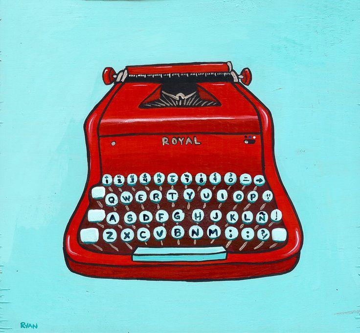 vintage typewriter art - Google Search