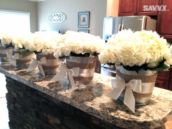 REAL WEDDINGS: SIMPLY SWEET DIY HYDRANGEA BOUQUETS & CENTERPIECES | http://www.sweetwoodcreativeco.com/blog-posts/2013/06/19/real-weddings-simply-sweet-hydrangeas