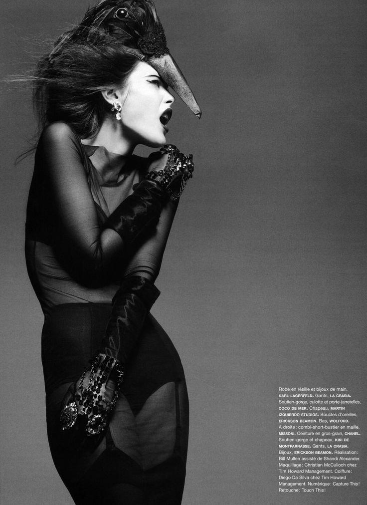 Catherine McNeil in Manifeste de L'Oiseau Rare for Numéro #92 Shot by Greg Kadel Styled by Bill Mullen