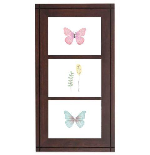 Falikép, dekoráció, print, grafika - pillangó - irodába, rendelőbe, otthonra - 3db 13x18cm (kkreabeaa) - Meska.hu