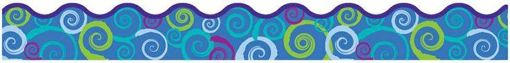 Cool Swirls Bulletin Board Trimmer, Scalloped | SS-3022 | T-92150