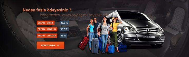 Neden fazla Ödeyesin! Ercan havalimanından adanın her noktasına, sizi özel olarak karşılıyor ve kapınıza kadar götürüyoruz.  İşte fiyatlarımız: Ercan-Lefkoşa 15 TL Ercan-Girne 18.5 TL Ercan-Mağusa 18.5 TL