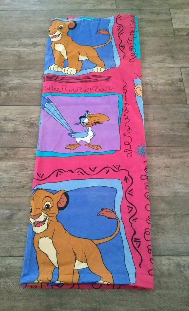 Vintage Disney The Lion King Twin Size Flat Sheet Fabric Crafts