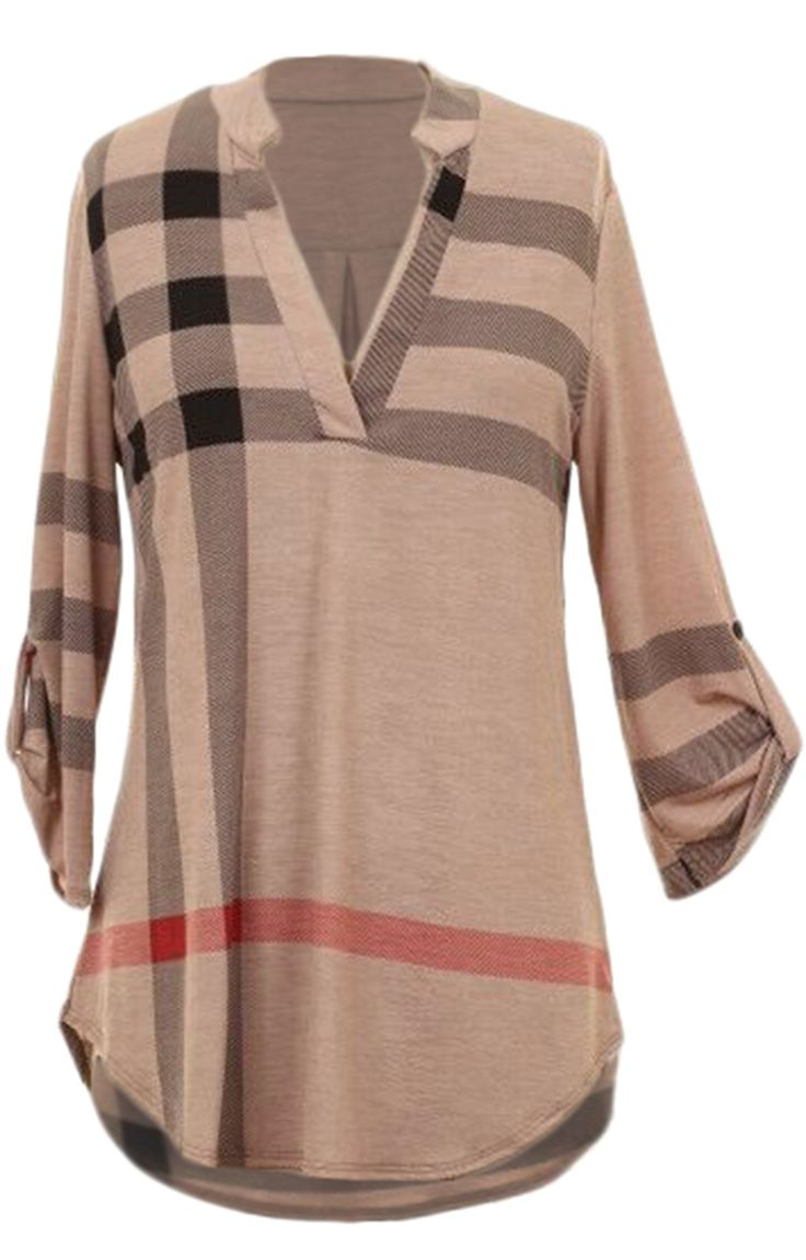 Pre-order 15% Off.Only 20.99! Freshen up your casual weekdays with classic plaid top, fresh to v neck and plaid pattern to complete a chic & stylish outfit. Shop all new arrivals at Cupshe.com !