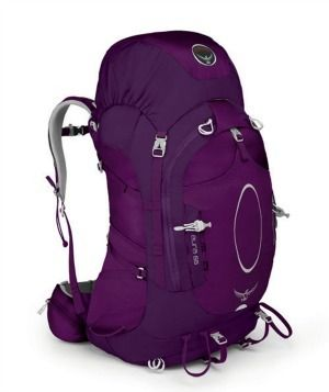 Aura 65L The Aura 65 offers a ventilated mesh backpanel with an ultra-comfortable waffle foam harness and hipbelt provides superb fit while the AirSpeed suspension provides great carry.