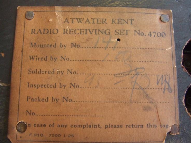 "Atwater Kent 10C (1924) ""Antique radio"", ""Tube radio"""
