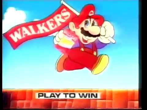 Nintendo entertainment system Mario Walkers crisp's Advert NES Nintendo entertainment system Mario Walkers crisp's Advert NES (VHS Capture) rare old advert advertising walkers crisps and the nes console and games.