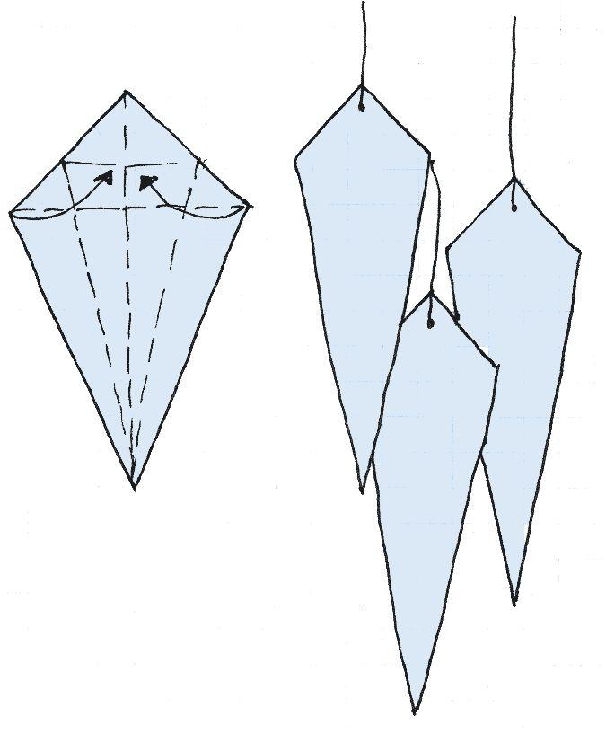ijspegels vouwen