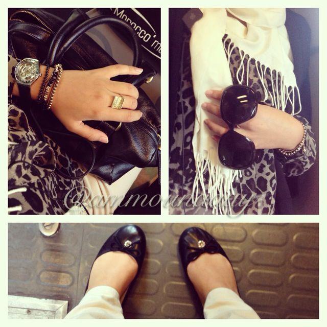 Leopard theme outfit :) #HijabiFashion