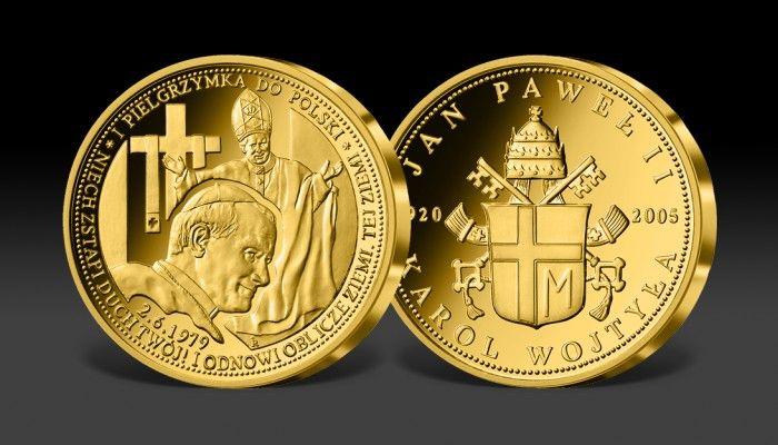 I Pielgrzymka Jana Pawła II do Polski w cennym złocie