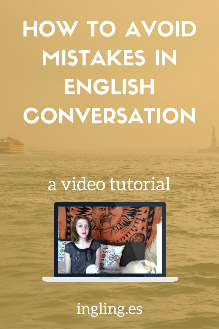 Embarassed to speak English in public? Learn how to avoid mistakes when speaking English! English Conversation, Speak English Online, Speak Engilsh Free, Free Online Video to Speak English, English Conversation Practice