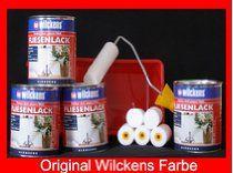 4 Dosen FLIESENLACK inkl. FARBROLLER WILCKENS weiß für 32 qm