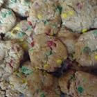 Christmas cookies...so good! I will make these year round. Coconut, M&Ms, soft and delicious...