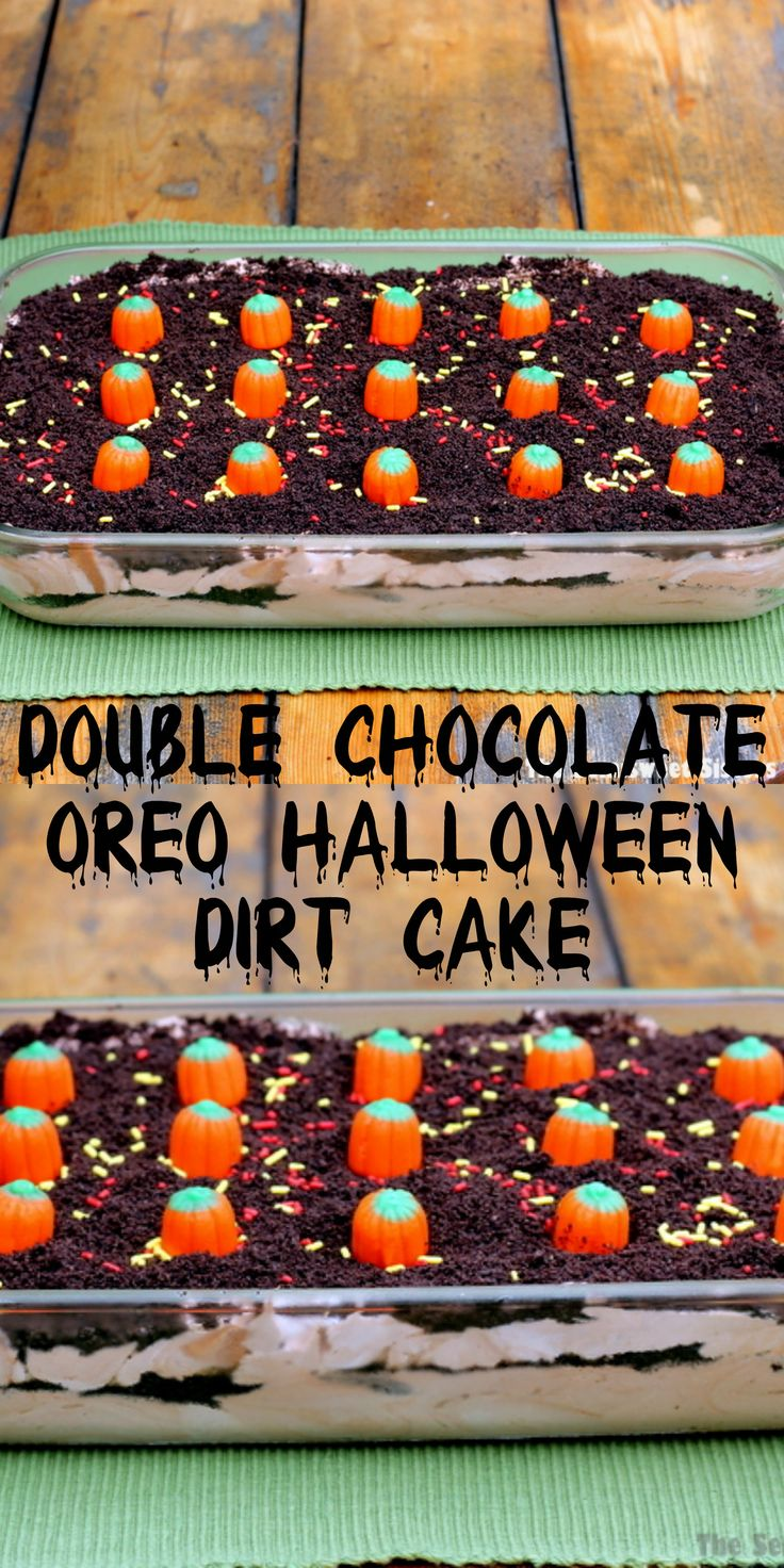 Double Chocolate Oreo Halloween Dirt Cake Recipe ...