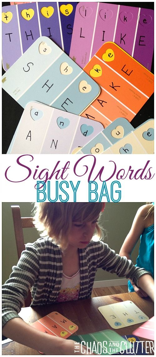 Sight Words Busy Bag