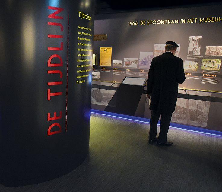 De tijdlijn. Ontwerp van de herinrichting van Museumstoomtram Hoorn-Medemblik.  Ontwerp en realisatie: Tekst en Uitleg