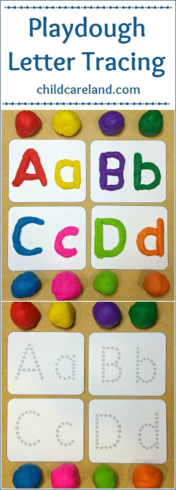 Playdough Letter Tracing ... for letter recognition and fine motor.