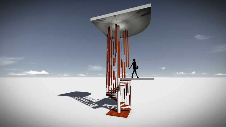 CONCEPT- ISOLATED STAIRCASE AS DESIGNED BY STUDIOUS ARCHITECTS
