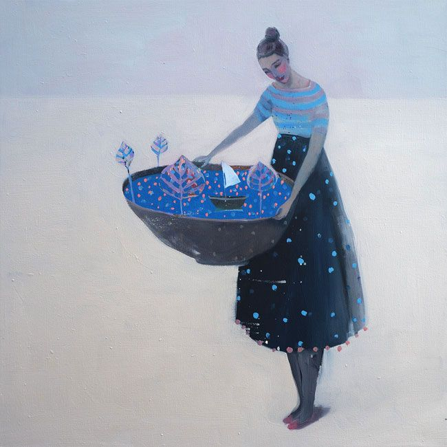 Kristin Vestgard How to understand oil on canvas 50 x 50 cm