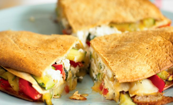 Goat Cheese And Avocado Quesadillas With Nectarine Salsa Recipe ...