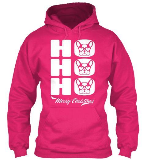 Ho Ho Ho Santa Pug Merry Christmas  Heliconia Sweatshirt Front