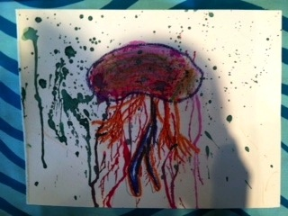 It's a jellyfish from our kid's art class at TaDa! The Spot To Be Creative in Marble Falls, TX: Journal Classes, Class Ideas, Kid Art, Kids Class, Art Class, Classes Kids