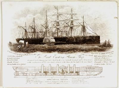 """The Great Eastern"" steam ship designed by I.K. Brunel."