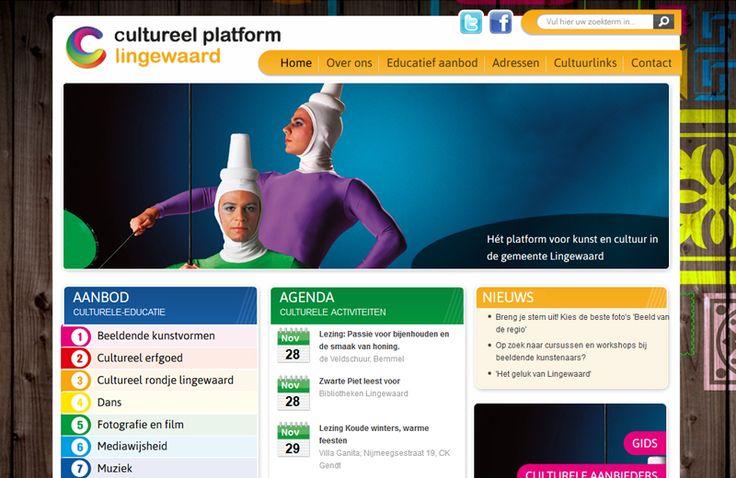 Op deze website vinden inwoners van de gemeente Lingewaard de 'Culturele Agenda' met alle culturele evenementen in de diverse dorpen binnen deze gemeente. http://cowpunks.nl/portfolio_webdesign_websites_webapplicaties_onlinemarketing/cultureel_platform_lingewaard