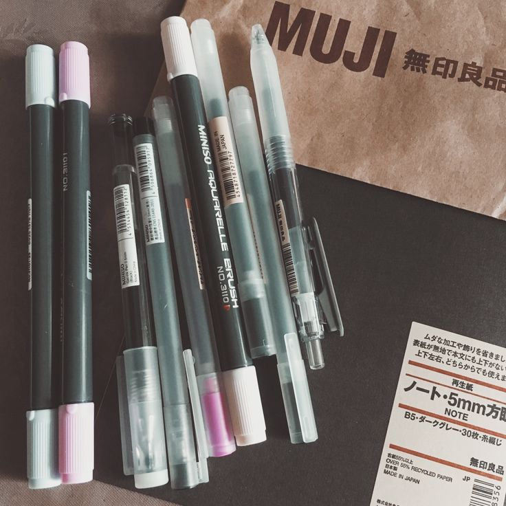 APRIL 26TH 2016 • stopped by muji and miniso today! I'm a huge fan of miniso brush tip markers and I also decided to give muji gel pens another chance (I never really got into them cos they made my...