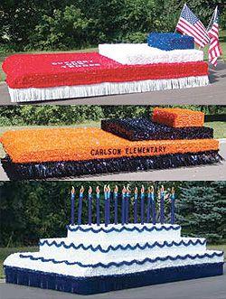 parade float birthdays, parade float homecoming, parade float fourth of july