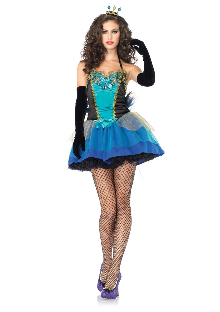 Blue Peacock Beauty Costume By Leg Avenue Fairy Tale Once Upon A Time Happily Ever After