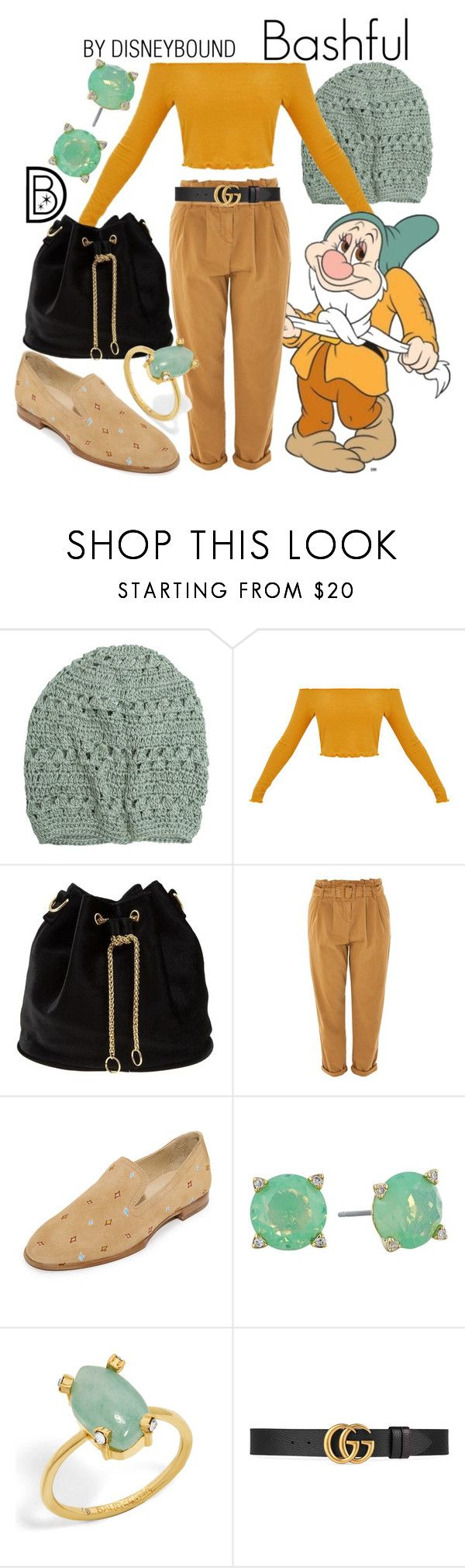 """""""Bashful"""" by leslieakay ❤ liked on Polyvore featuring Krochet Kids, 7 For All Mankind, Topshop, rag & bone, Vera Bradley, BaubleBar, Gucci, disney, disneybound and disneycharacter"""