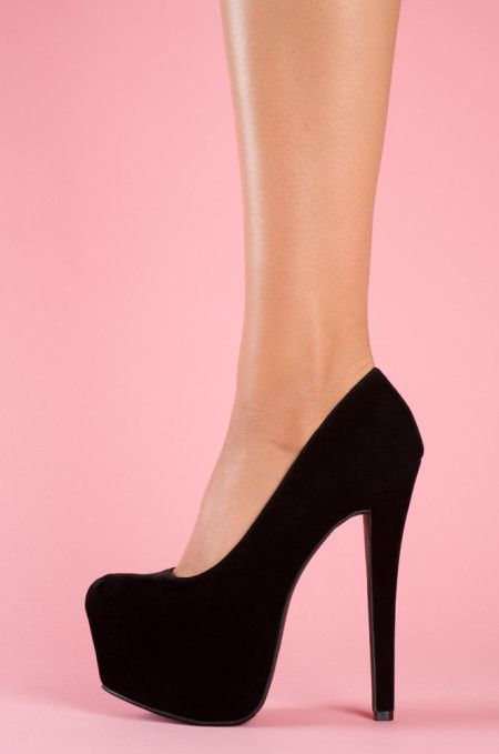 black platform heel. These look like mine! I love my shoes*
