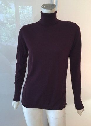 Kaufe meinen Artikel bei #Kleiderkreisel http://www.kleiderkreisel.de/damenmode/rollkragenpullover/138386601-hm-rollkragen-kaschmir-pullover-40-42-m-l-bordeaux-rot-seide-neu