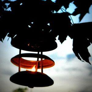 Upcycled Outdoor Hanging Lanterns | AllFreeHolidayCrafts.com