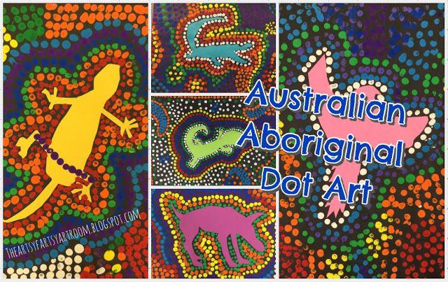 The Artsy Fartsy Art Room: 3rd Grade Australian Aboriginal Dot Art (2015)