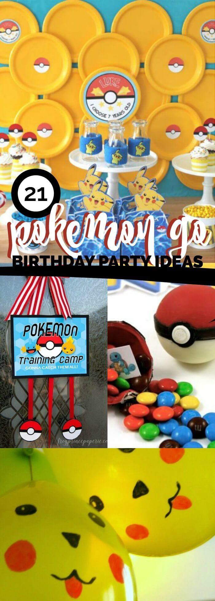 21 Top Pokemon Go Party Ideas