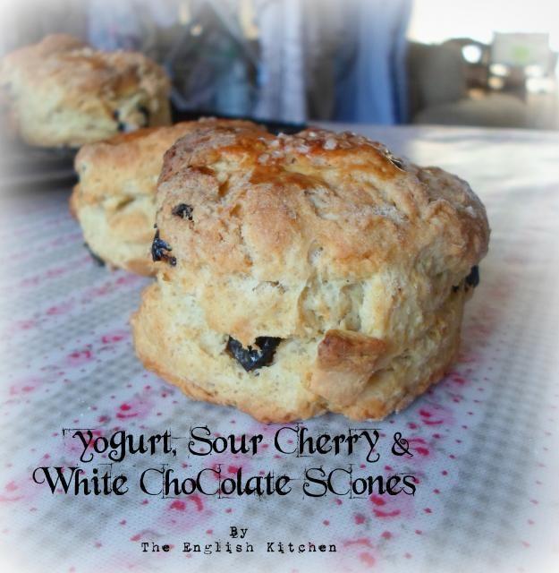 Yogurt, White Chocolate and Sour Cherry Sconesfrom The English Kitchen