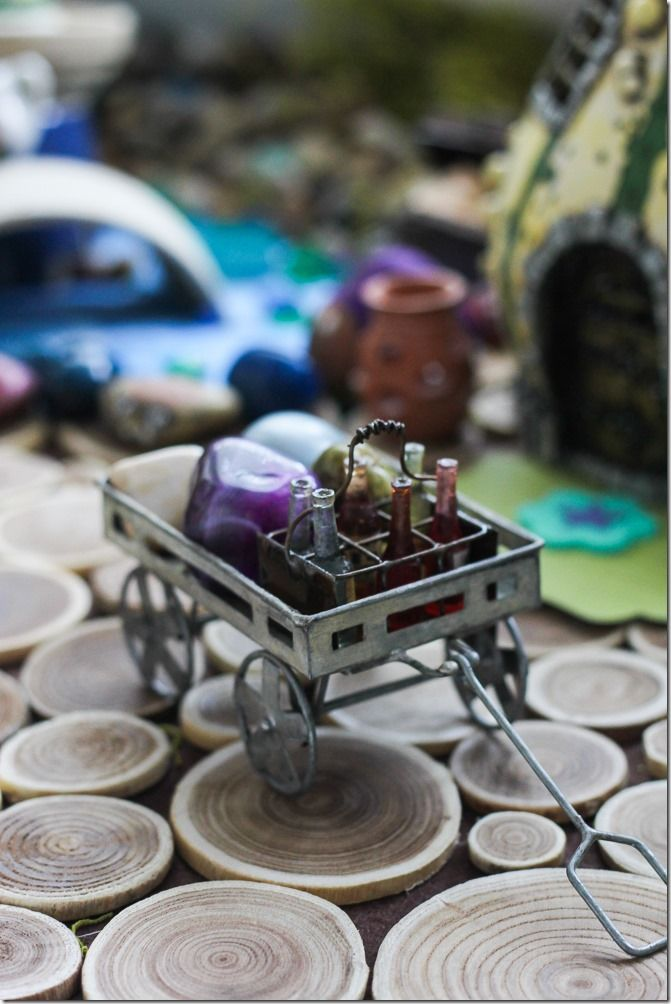 DIY Fairy Garden-There are some really fun ideas in here. I would want some live plants in mine though.