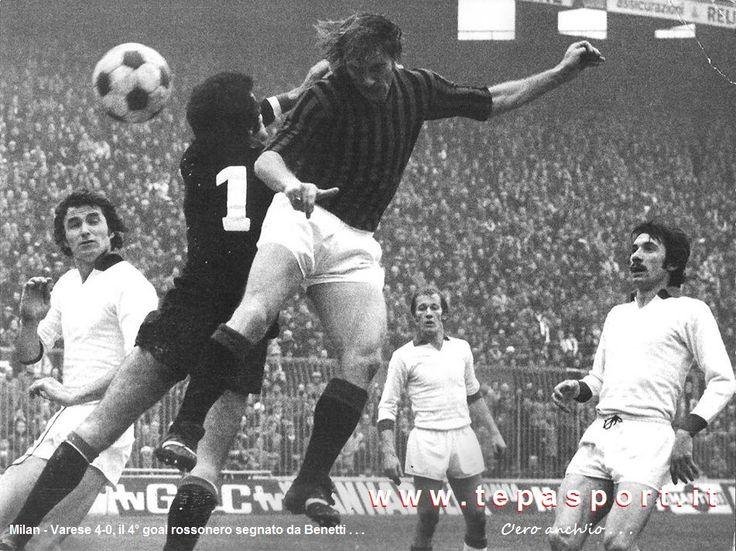A.C. Milan - Varese Calcio 4-0 Il 4° goal rossonero segnato da Romeo Benetti ... ⚽️ C'ero anch'io ... http://www.tepasport.it/  Made in Italy dal 1952