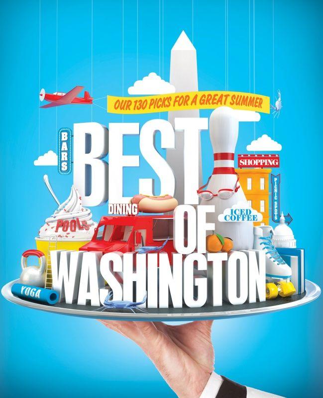 Vault49 | Portfolios | 3D Sets | Washingtonian Magazine - 3D Typography Design Modelling