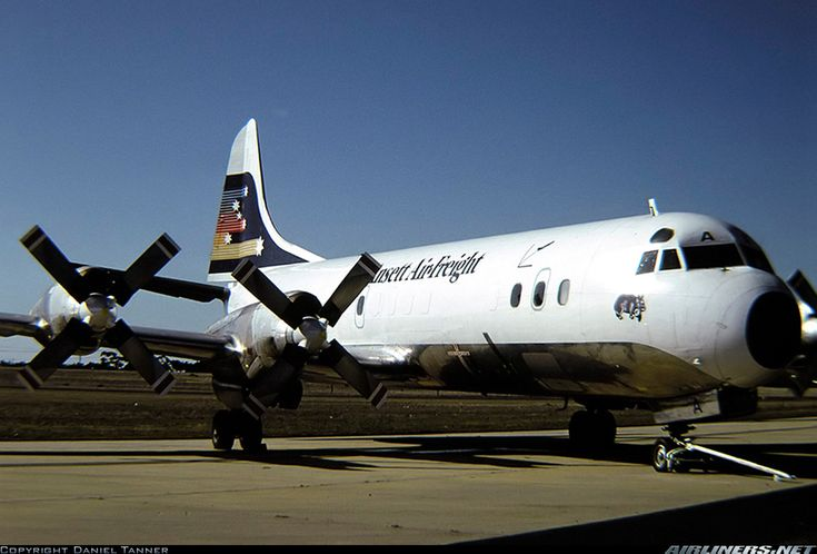 Ansett Air Freight Lockheed L-188A(F) Electra aircraft picture (1984)