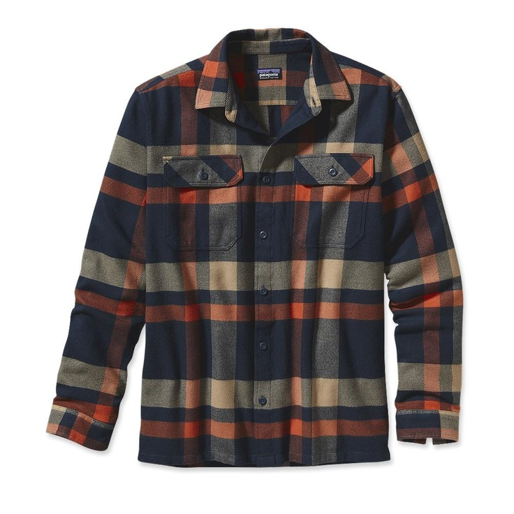Patagonia Men's Fjord Flannel Shirt - Comstock: Heritage (CKG-622) - Small