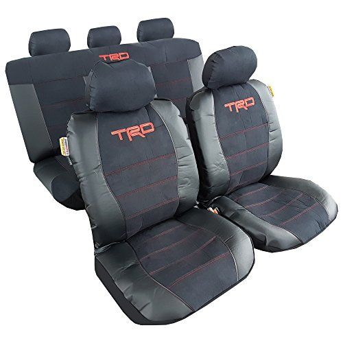 Combo Pack 9pcs TRD Sports Car Seat Covers For Toyota Corolla Universal Size