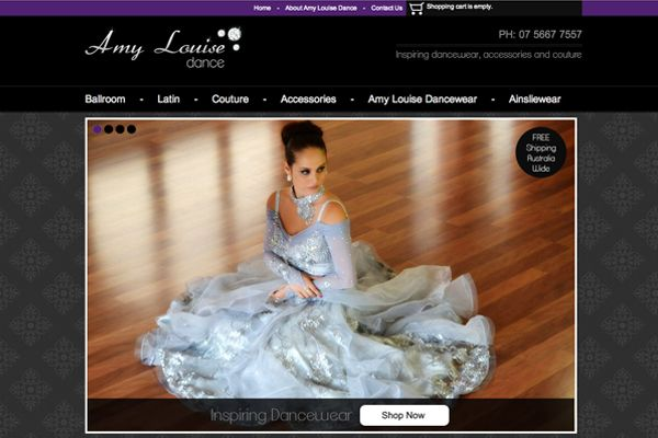 http://www.gcds.com.au/our-web-design-works/amy-louise-dance  Amy Louise Dance is an online store dedicated to providing dancers with inspiring, comfortable and affordable dancewear. Offering quality one-off Ready-to-Wear competition costumes and practice wear for Ballroom, Latin, Dancesport, Salsa and Tango. They also provide a full couture service for individually designed dancewear.