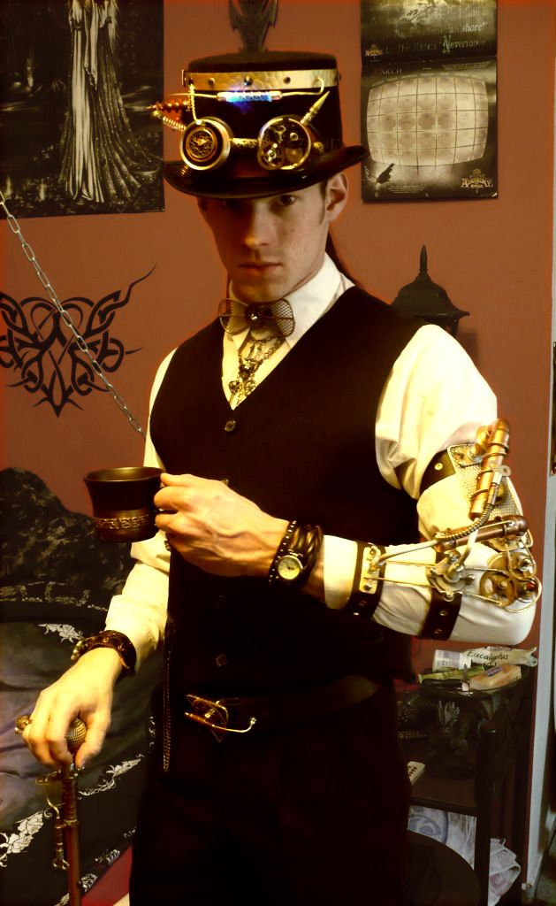 New Steampunk Outfit by Raphaelius.deviantart.com on @deviantART  Yes I think it would be lovely to have tea with the young gentleman